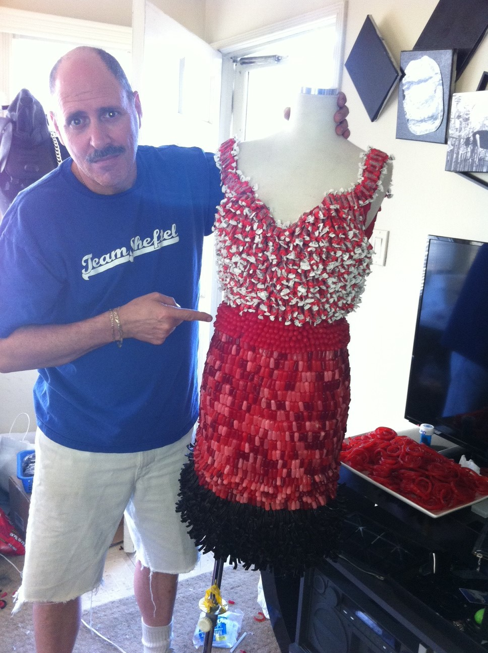 Dress made of 100% candy!